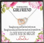 How Much You Are Special To Me Interlocking Hearts Necklace Gift For Lovers