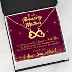 For All The Times Infinity Heart Necklace Gift For Mom