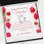 Happy Anniversary Gift For Wife Red Roses Forever Love Necklace