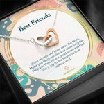 Gift For BFF She Is Joy The Heart And Love Interlocking Hearts Necklace
