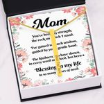 Gift For Mom Blessing My Life 18K Gold Vertical Bar Necklace