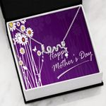 Happy Mother's Day Purple Scripted Love Necklace Gift For Mom