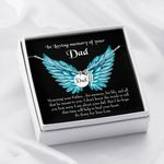 Honoring Your Dad Loss Of A Dad Gift For Angel Dad Remembrance Angel Wing Necklace
