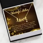 A Lot Of The Time Scripted Love Necklace Gift For Mom