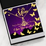 Always Been There Gold Butterflies Message Card Anchor Necklace Gift For Mom