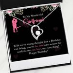 Girlfriend Birthday Gift Happy Birthday Stainless   Forever Love Necklace