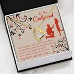 Gift For Girlfriend The First Time I Saw You   Forever Love Necklace