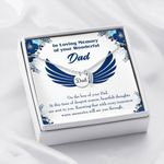 Deepest Sorrow Loss Of A Dad Gift For Angel Dad Remembrance Angel Wing Necklace