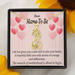 Expecting Mother The Miracle Of Motherhood Giraffe Couple Necklace