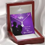Gift For Wife I Treasure And Adore You Alluring Beauty Necklace