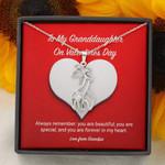 Giraffe Couple Necklace Grandpa Gift For Granddaughter On Valentine's Day