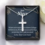 Artisan Crafted Cross Necklace Aunt Gift For Niece You Make Us Proud
