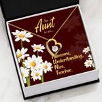 An Aunt Is An Awesome Understanding Gift For Aunt   Forever Love Necklace