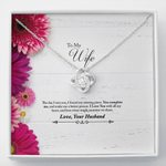 I Love You With All My Heart Gift For Wife Love Knot Necklace