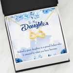 Behind A Great Daughter Infinity Heart Necklace Dad Gift For Daughter