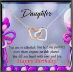 Gift For Daughter You Are So Talented Intelocking Hearts Necklace