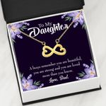 You Are Beautiful Gift For Daughter 18K Gold Infinity Heart Necklace