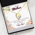 Mom I Love You Gift For Mom 18K Gold Forever Love Necklace