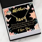That's You Floral Message Card Scripted Love Necklace Gift For Mom