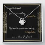 You Are Beautiful Gift For Girlfriend Love Knot Necklace