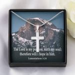 The Lord Saith My Soul Artisan Crafted Cross Necklace Gift For Christian