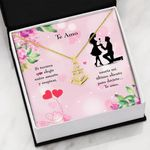 Te Amo Spanish Message Gift For Lover Anchor Necklace