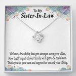 Thank You For Your Care Gift For Sister In Law Love Knot Necklace