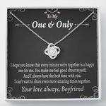Share More Amazing Times Together Love Knot Necklace Gift For Lovers