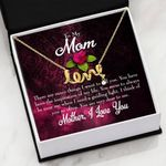 Think Of You Message Card Scripted Love Necklace Gift For Mom