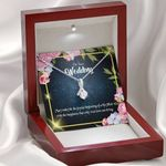Wedding Day With Message Gift For Wife 14K White Gold Alluring Beauty Necklace