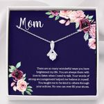 You Are Always There With Love Gift For Mom 14k White Gold Alluring Beauty Necklace