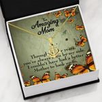 To Amazing Mom Better Mother To Look Up To Anchor Necklace
