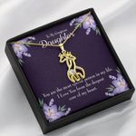 To My Gorgeous Daughter Love You From The Deepest Giraffe Couple Necklace