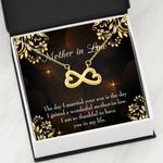 The Day I Married Your Son Infinity Heart Necklace Gift For Mother In Law