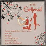 You Are My Inspiration Gift For Girlfriend Interlocking Hearts Necklace
