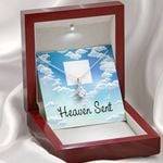 Message Gift For Mom Heaven Sent Alluring Beauty Necklace