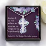 You Have All Our Best Wishes Artisan Crafted Cross Necklace Gift For Women