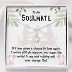 Message Card Alluring Beauty Necklace Gift For Girlfriend You Mean The World