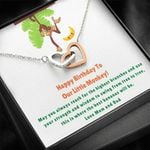 Interlocking Hearts Necklace Parents Birthday Gift For Our Little Monkey Love You
