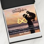 Never Forget Dad Loves You Infinity Heart Necklace Dad Gift For Daughter