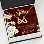 Thank For Being The Most Caring Person Infinity Heart Necklace Gift For Mom