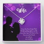 You Are My Best Friend Gift For Wife 14K White Gold Love Knot Necklace With Mahogany Style Gift Box