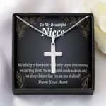 You Are One Of A Kind Gift For Niece Artisan Crafted Cross Necklace