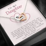 Interlocking Hearts Necklace Dad Gift For Daughter On Valentine's Day