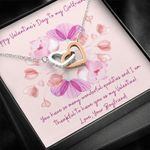 Interlocking Hearts Necklace Valentine's Gift For Lovers Thankful To Have You