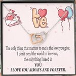 Interlocking Hearts Necklace Gift For Future Wife You Matter
