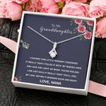 Nana Gift For Granddaughter You Will Feel Love 14k White Gold Alluring Beauty Necklace