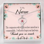Stethoscope Necklace Gift For Nurse The Compassion With You