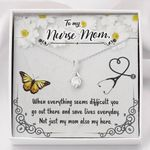 Not Just My Mom Also My Hero Gift For Nurse Mom Alluring Beauty Necklace