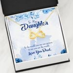 You Are The World To Me Gift For Daughter 18K Gold Infinity Heart Necklace